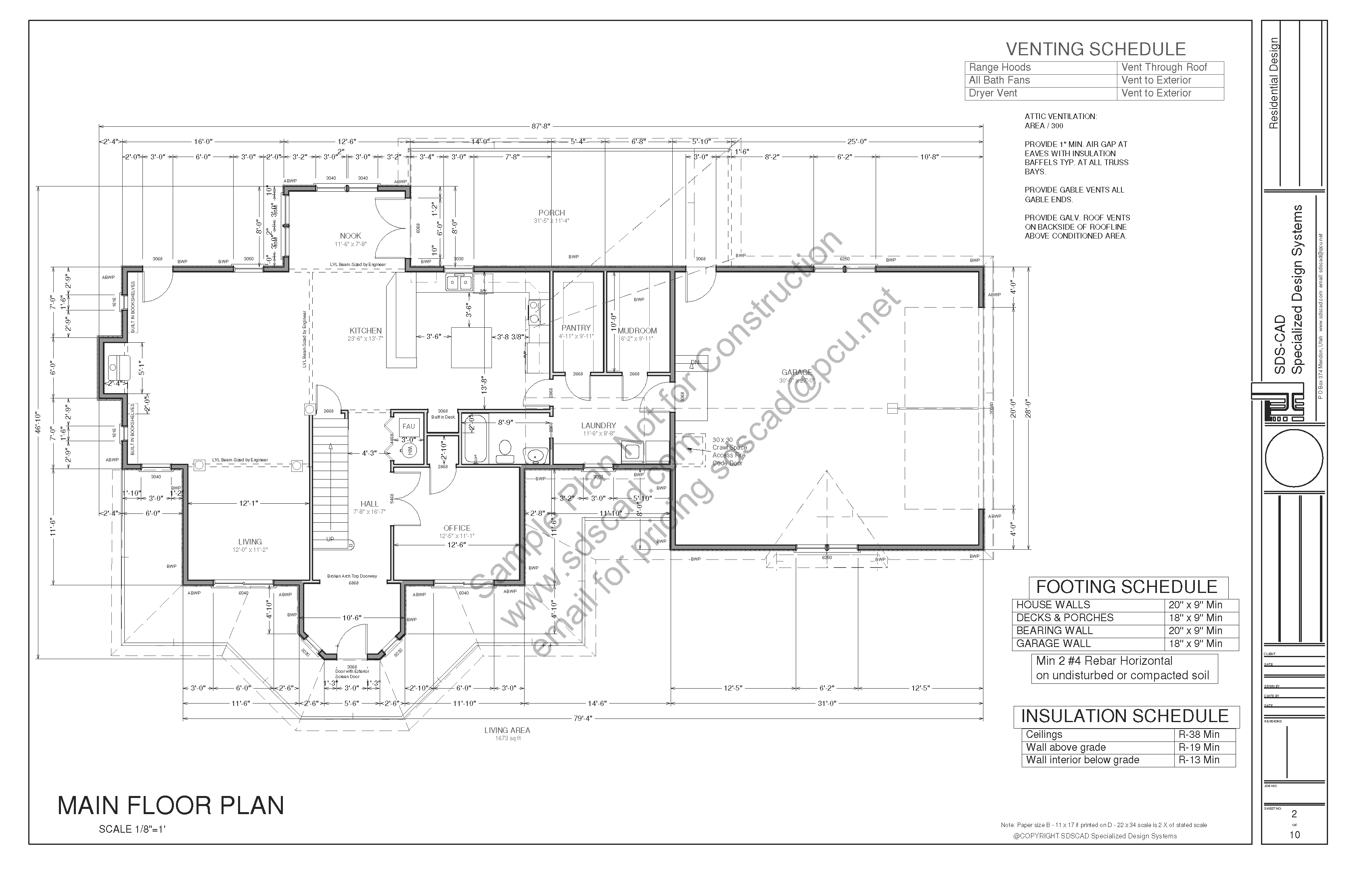 House Plans Blueprints Construction Documents Sds
