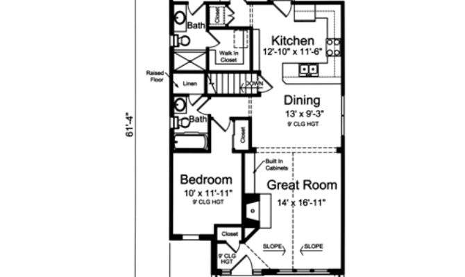 House Plans Drawn Narrow Lot Studer Residential