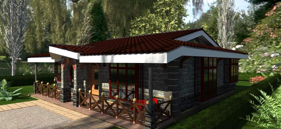 House Plans Kenya Bedroom Bungalow Plan