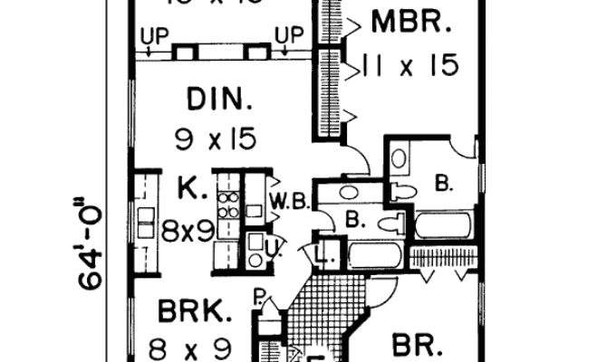 House Plans Narrow Lots Cottage