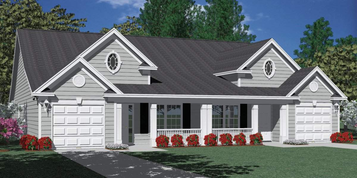 Houseplans Biz Duplex House Plans