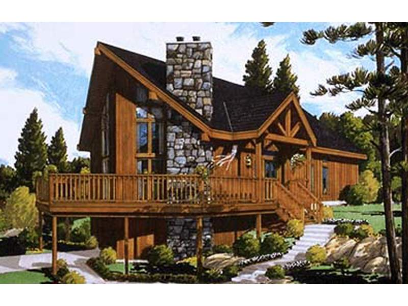 Huelett Rustic Frame Home Plan House Plans