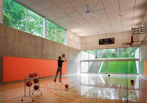 Ideas Indoor Home Basketball Courts Design Lover
