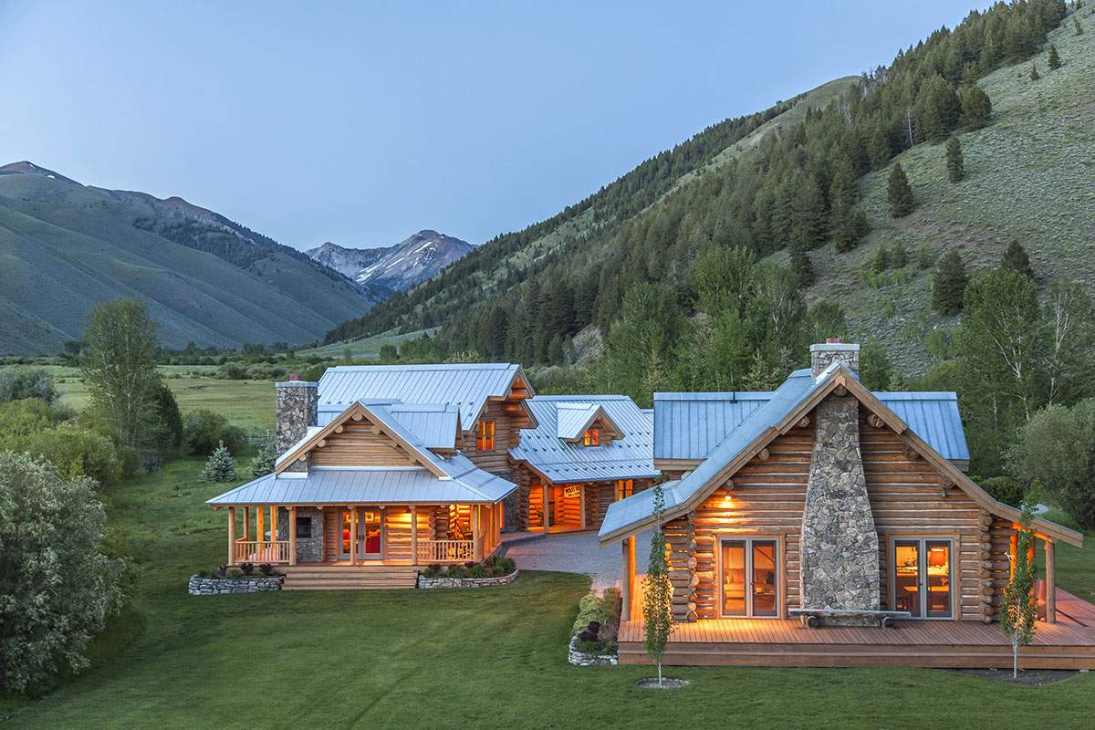 Impressive Ranch Heart Wood River Valley Home