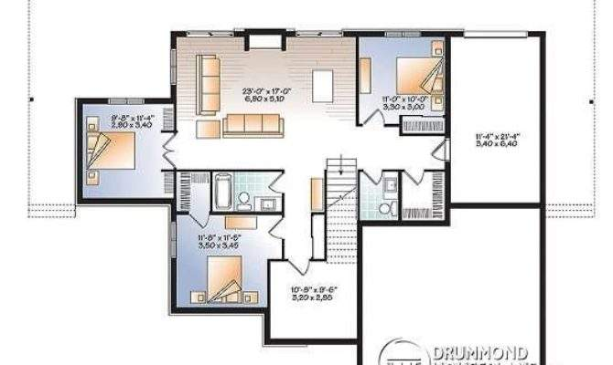 Inspirational Bedroom Ranch House Plans Walkout