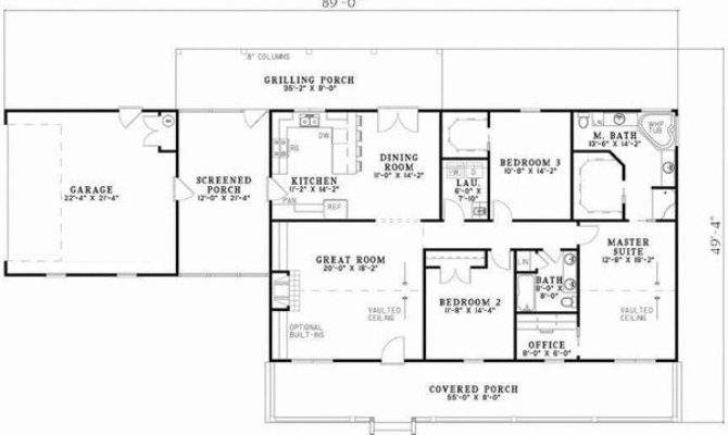 Inspirational Square Foot Ranch House Plans New