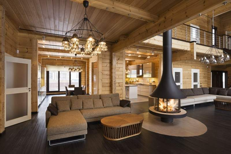 Interior Luxury Finnish Log Home Houses Can