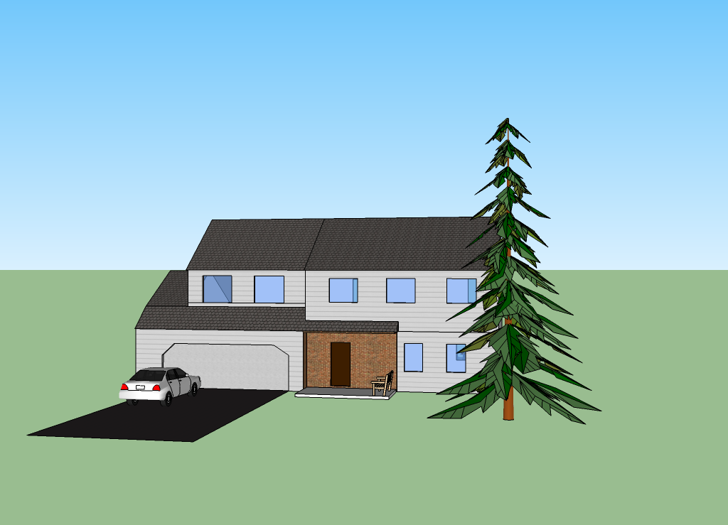 Intro Computers Design Google Sketchup House