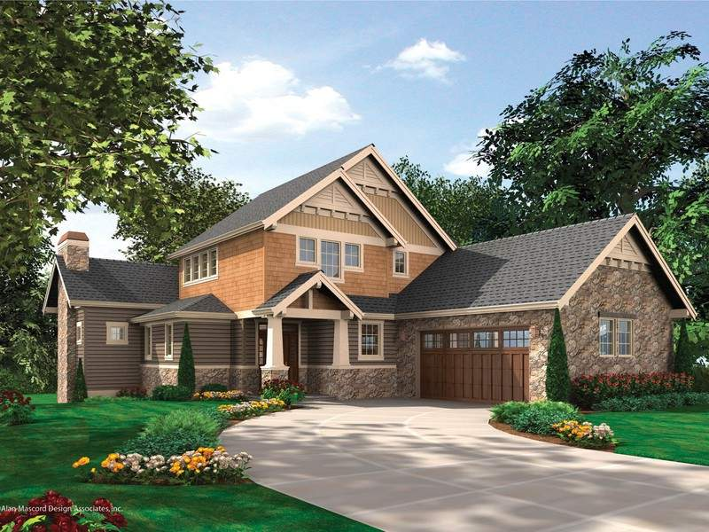 Iverson Craftsman Home Plan Offers Easy Story Living