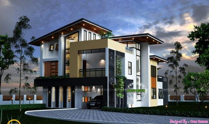 Kerala Contemporary House Home Design Floor Plans