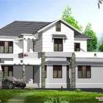 Kerala Style Sloping Roof Villa Design Home