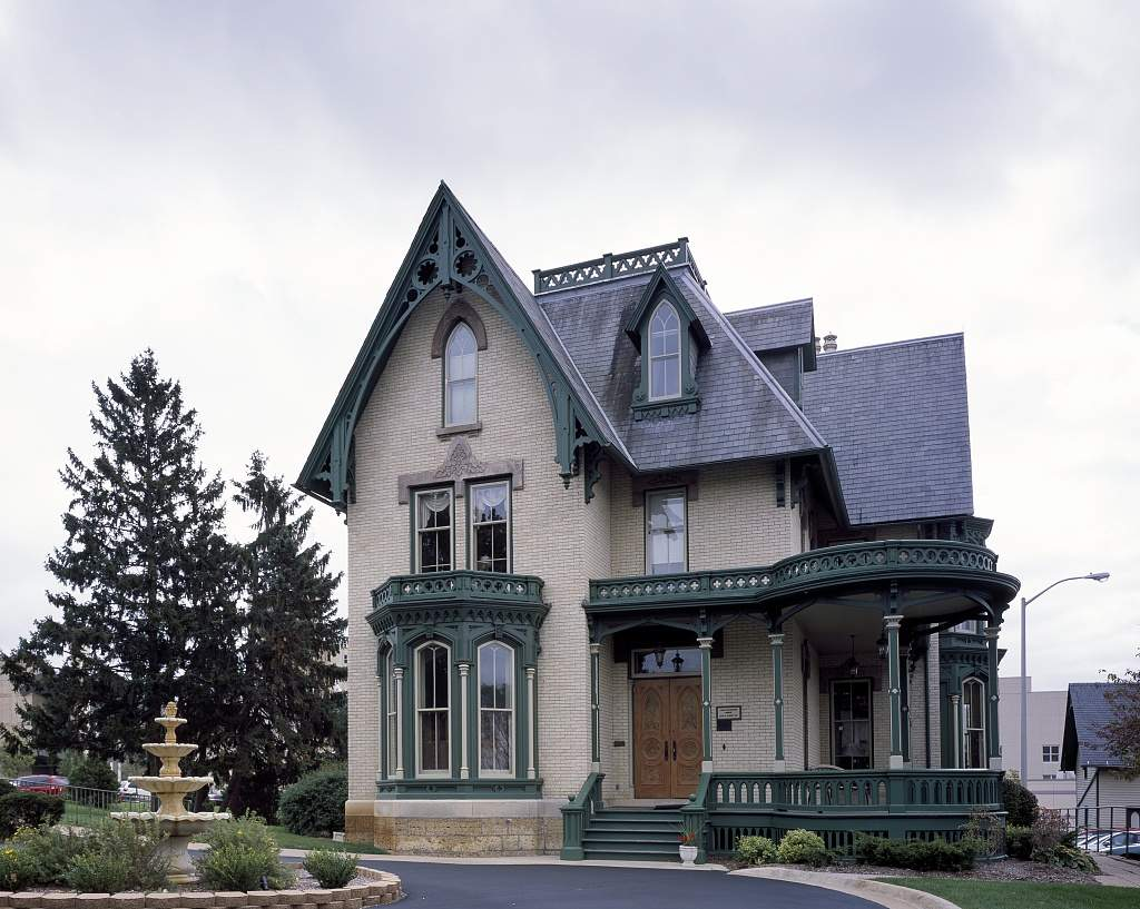 Lake Peterson House Gothic Revival Home Rockford Illinois