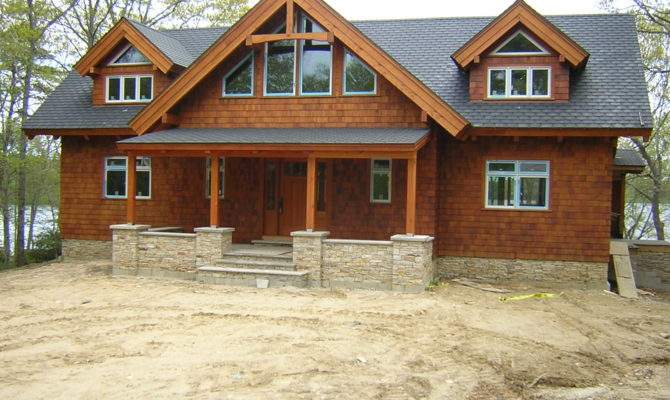 Lakeside Timber Frame Home Inspired Craftsman Style Architecture