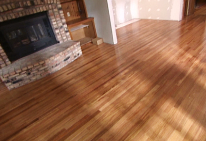 Laminate Floor Fireplace Transition Wooden Home