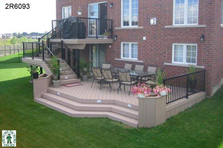 Large High Two Level Deck Planter Boxes Would