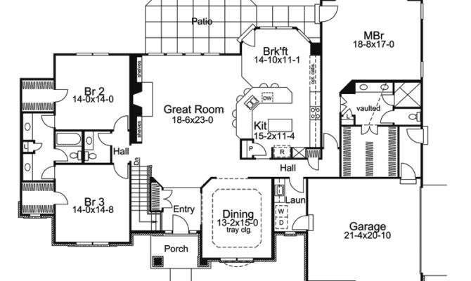 Large Ranch House One Story Floor Plans