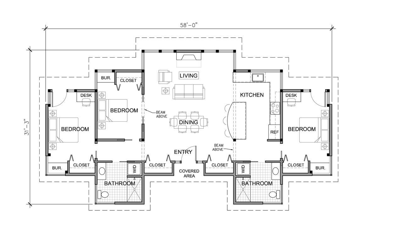 Log Home Floor Plans One Story