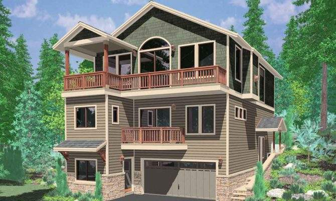 Lots Level House Plans Three Story