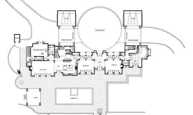 Mansion Floor Plans Ralston Avenue Hillsborough California