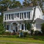 Marvelous Dutch Colonial House Plans White Plank Wall Small Garden