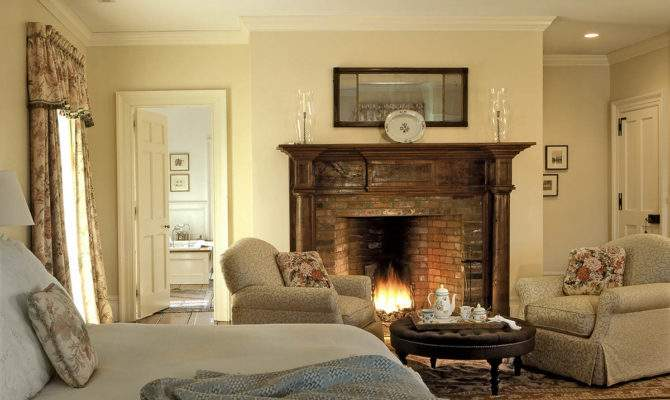 Master Bedroom Wooden Fireplace Surround