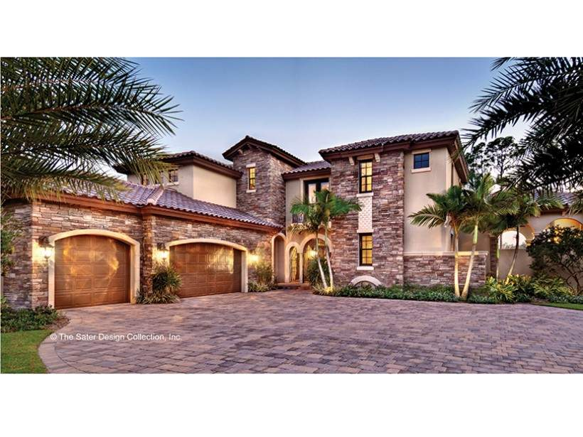 Mediterranean House Plans Courtyard Middle Home