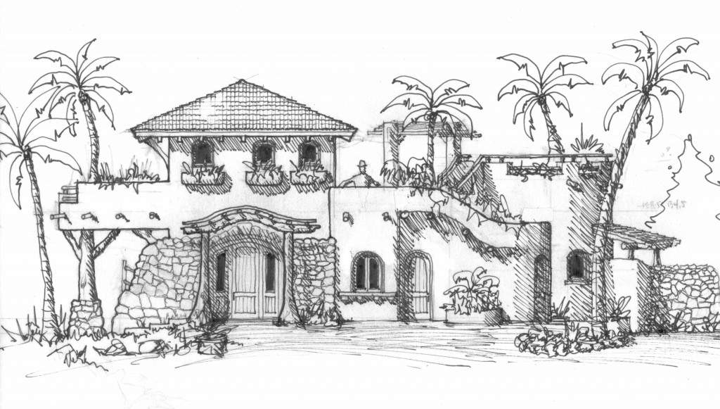 Mexican Style House Plans Courtyard Mexico Beach