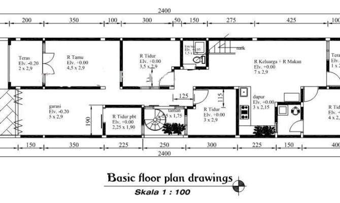 Minimalist House Design Drawing Plans Home