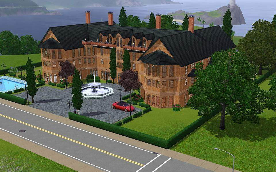 Mod Sims Gothic Victorian Inspired Mansion