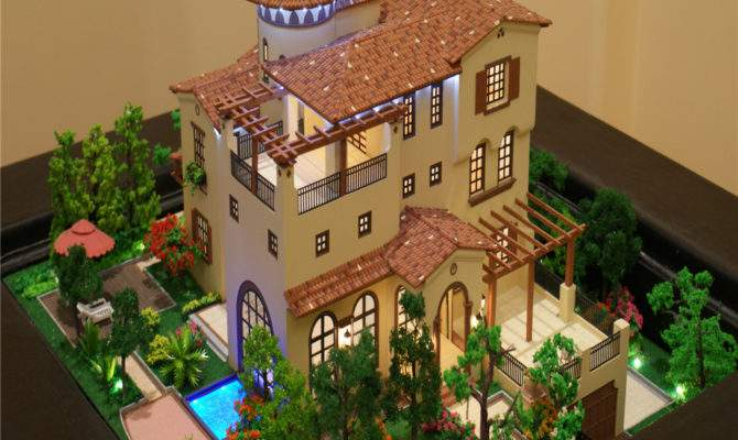 Model Miniature House Real Estate Property Sale Villa