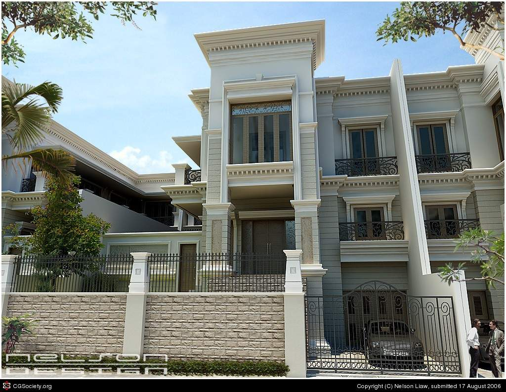Modern Classic House Exterior Design Style Plans