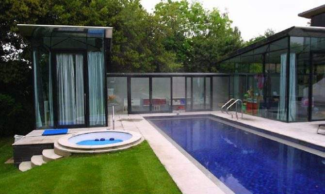 Modern House Open Plan Living Space Lots Glass