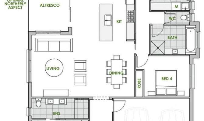 Modern House Plans Space Efficient Plan Apartment Floor