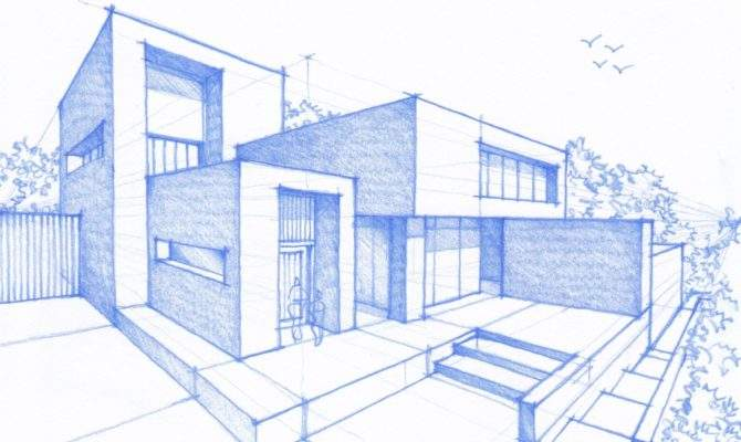 Modern House Sketches Drawings Draw