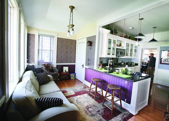 Modern Interior Queen Anne Home Blends Comfort Classic Style