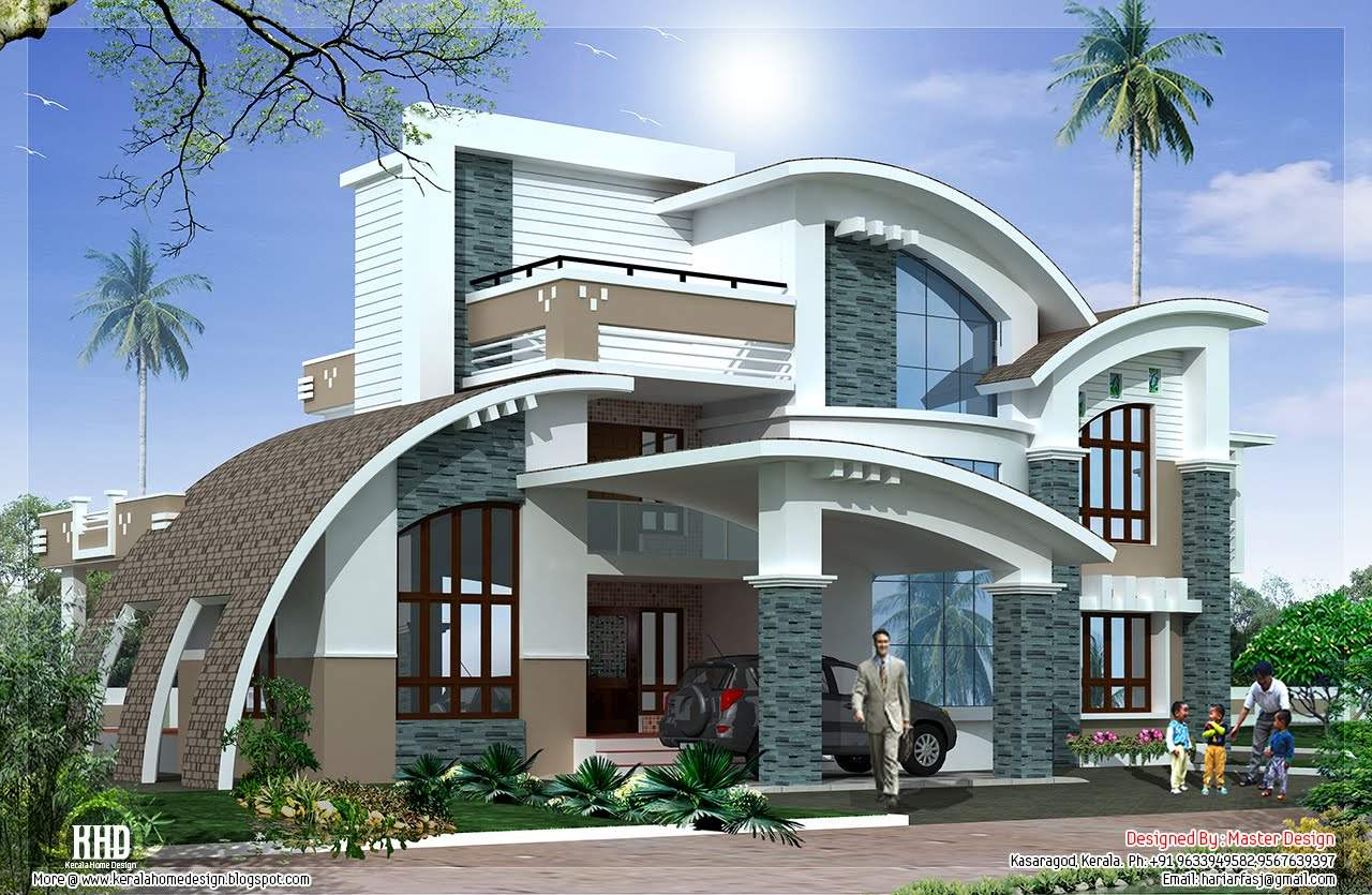 Modern Mix Luxury Home Design Kerala Floor Plans