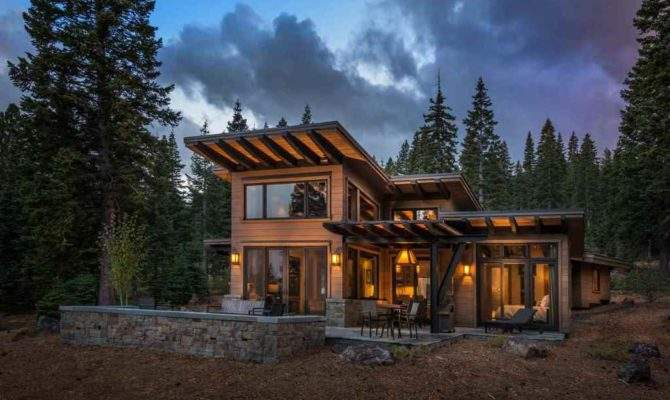 Modern Mountain Retreat Unwind Winter Season