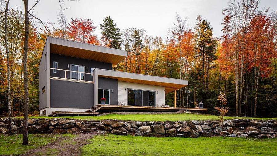 Modern Rustic Chalet Bolton Est Quebec Boom Town