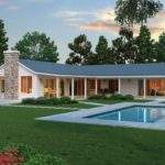 Modern Shaped Farmhouse Plan Cliff May Style Ranch House