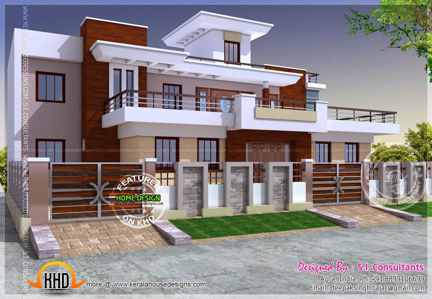 Modern Style India House Plan Interior Designs