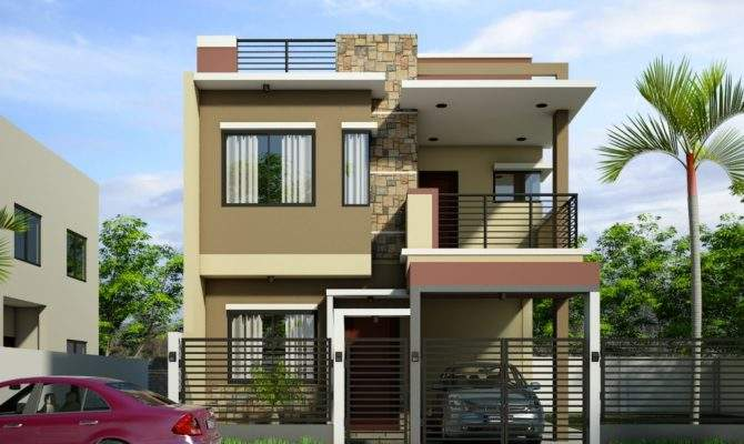 Modern Two Storey House Plans Lesmursinfo One Design