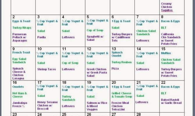 Mom Mart February Monthly Meal Planning Freeprintable
