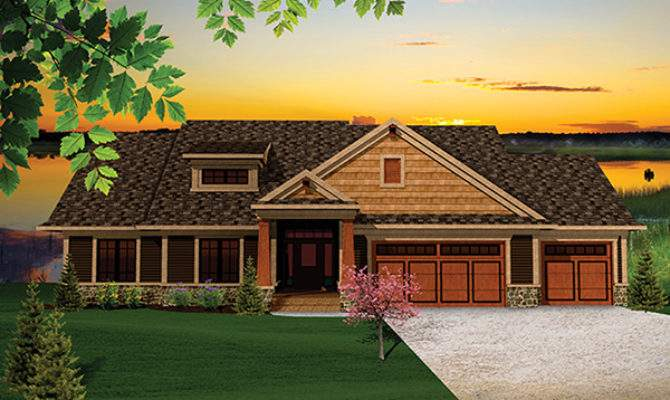 Montana Rustic Craftsman Home Plan House Plans