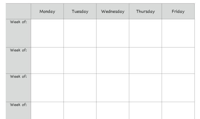 Monthly Lesson Plan Template Plans Pinte