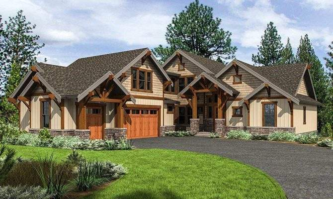 Mountain Craftsman Home Plan Upstairs Bedrooms