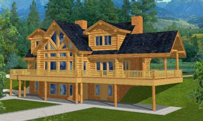 Mountain Home Plans Walkout Basement