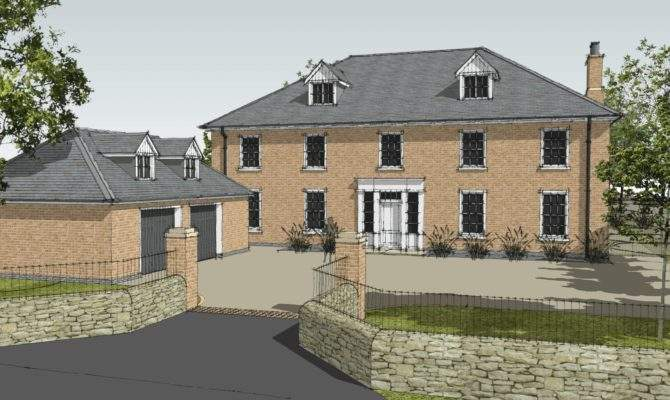 New Build Georgian Inspired House Leaf Architecture