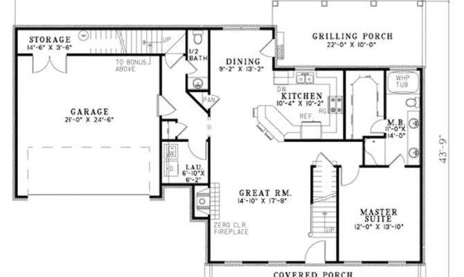 New England House Plan First Floor Plans More