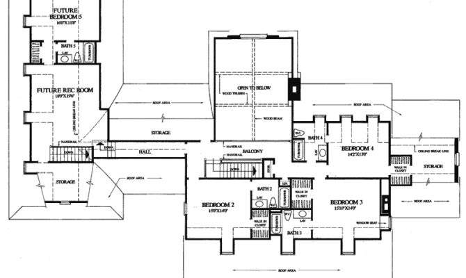 New England House Plan Second Floor Plans More