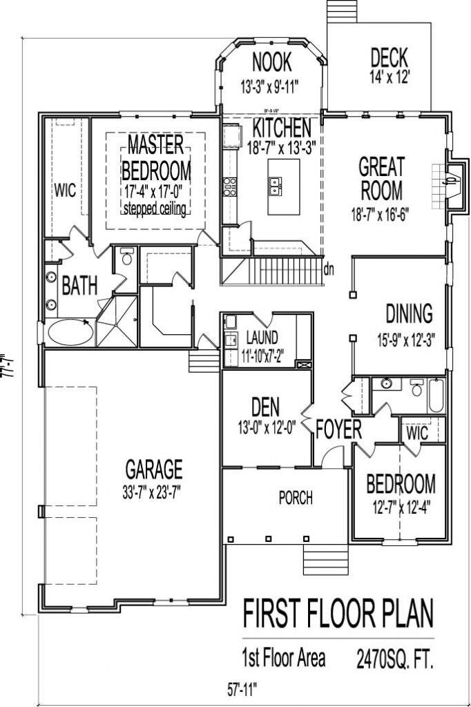 New One Story Ranch House Plans Basement Home
